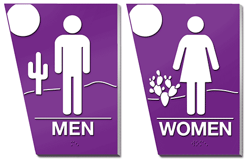 ADA Bathroom Signs for Tex/Mex Client