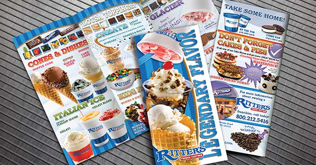 "Ritter's Trifold ""Take One"" Menu"